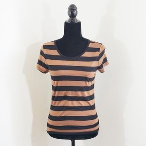 Forever 21 | Striped Top | Brown/Rust & Black